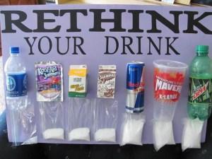 Sugar in drinks!