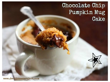 Fit Friday: Chocolate Chip Pumpkin Mug Cake!