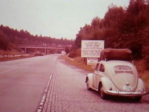 Road entering Soviet zone
