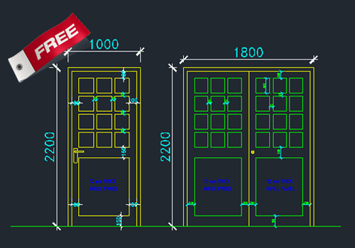 Marvellous door handle dwg pictures ideas house design for Window design cad
