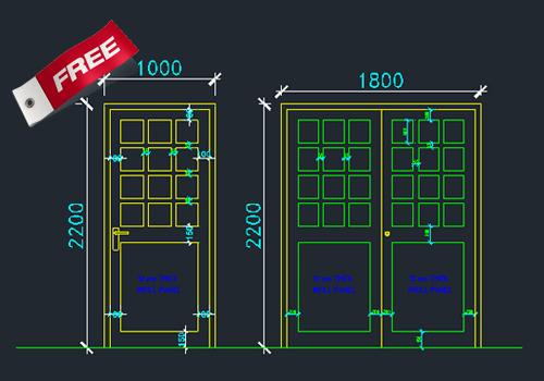Aluminium Doors And Windows Dwg Cad Drawing Free Download