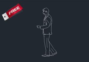 Business man dwg cad block free download for your house plan fro dwgnet.com