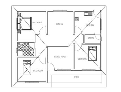 Single story house plan 03 - plan