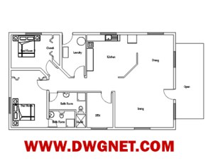 Single story house plan 04 - plan