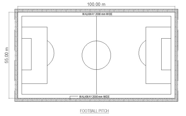 football court CAD drawing free download form dwg net 01