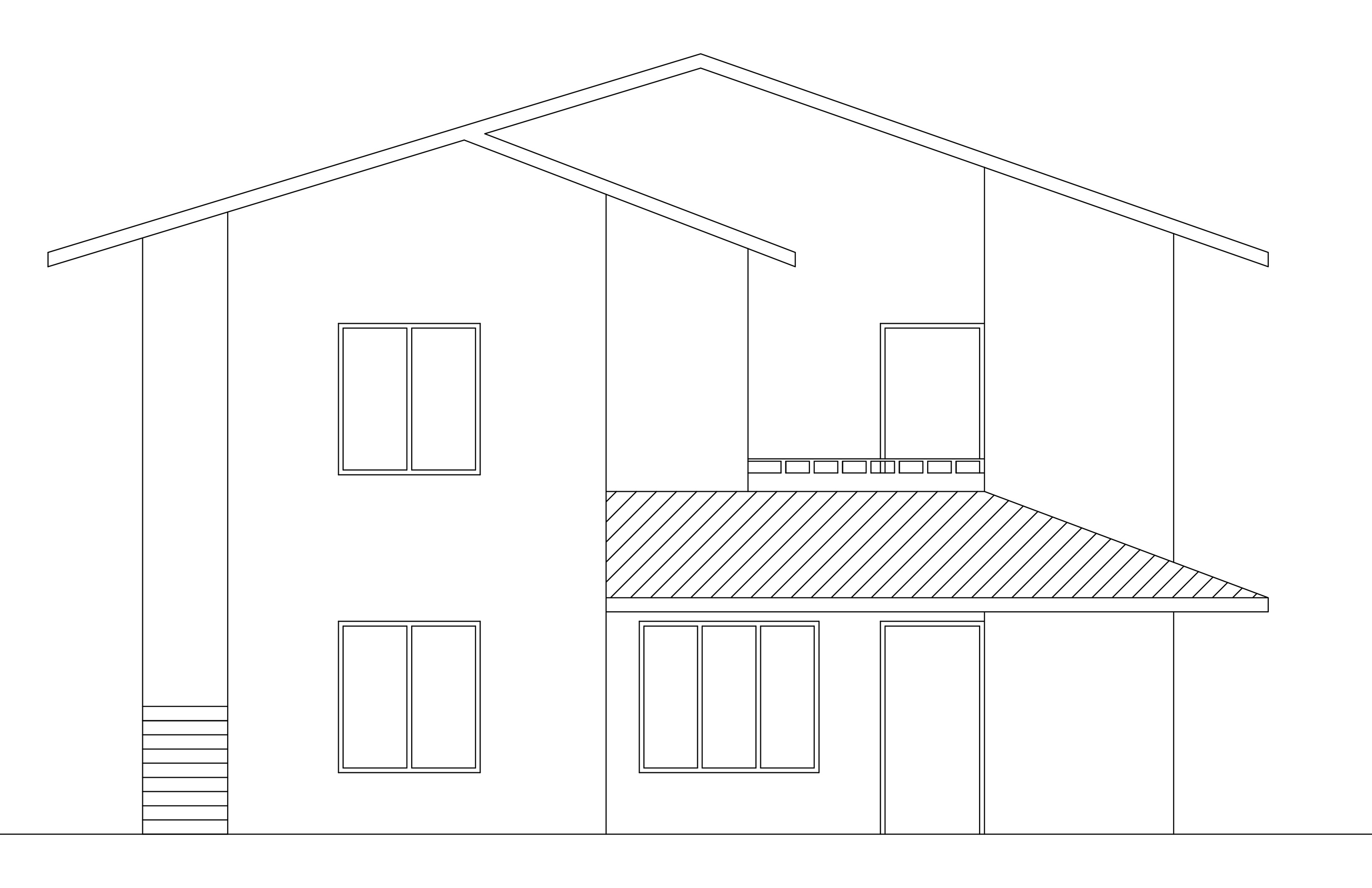 Double Storey Bungalow Elevation : Double story house plan from dwgnet