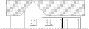 three bed room house plan front elevetion