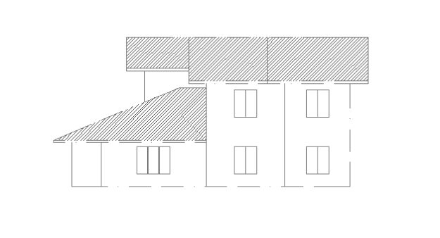 Double Story house plan 1003 side elevetion