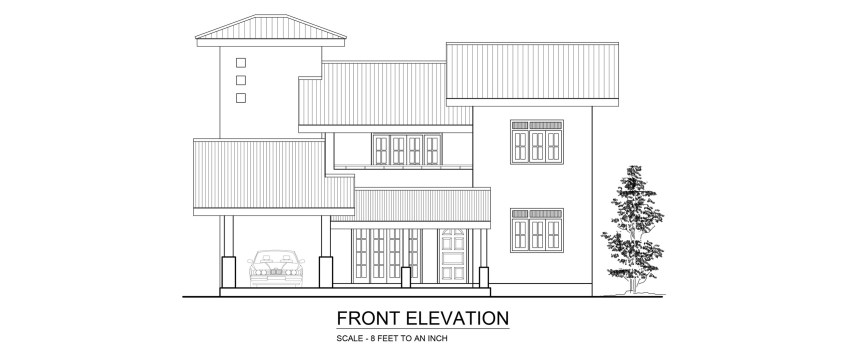 Front Elevation Of House In Sri Lanka : Premium quality four bedroom double story house plan