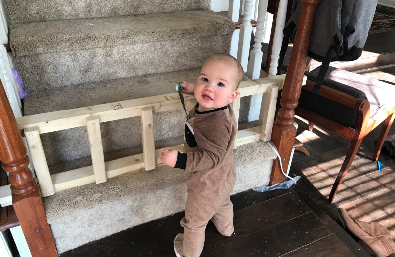 Simple $5 Baby Gate out of a 2×4