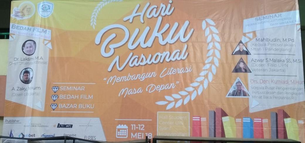 Perayaan Hari Buku Nasional oleh HIMA Prodi Ilmu Perpustakaan UIN Syahid