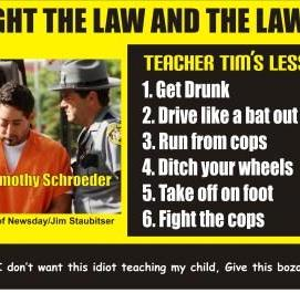 Teacher Tim's Lesson Plan for DWI arrest
