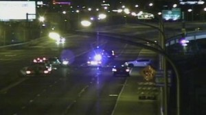 I-95 fatal crash scene in Philadelphia, Penn. 040614