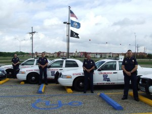 New Troopers of the Louisiana State Police Troop G report for duty