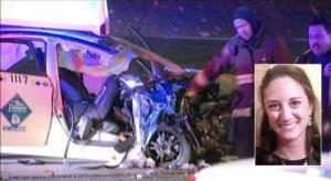 WGN-TV, Michael B. Lanahan (inset)  )  Laura La Plante was killed in a crash with a wrong-way driver on Lake Shore Drive.