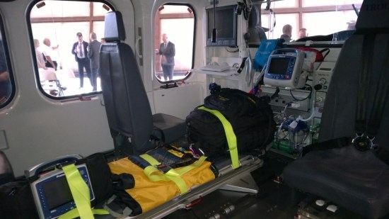 The Maryland State Police Trooper 7 medevac helicopter interior.  DWI HIT PARADE photo