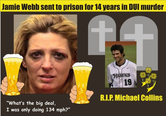 Jamie Webb sent to prison for 14 years for DUI murder of Michael Collins