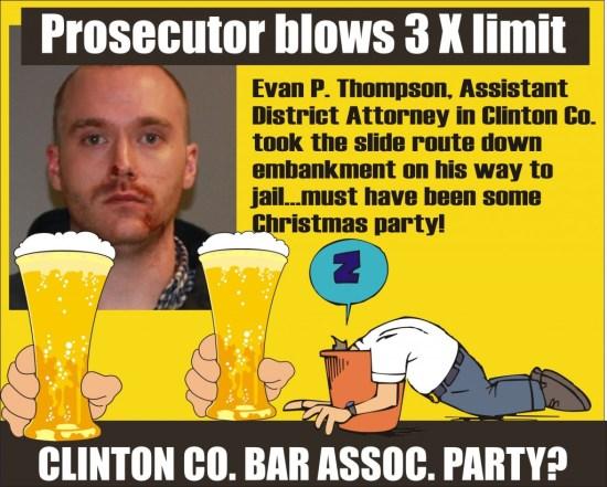 Evan P Thompson Ass Dist Attn Clinton Co NY DWI arrest 122714