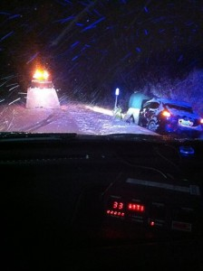 Vermont State Police winter driving mishap