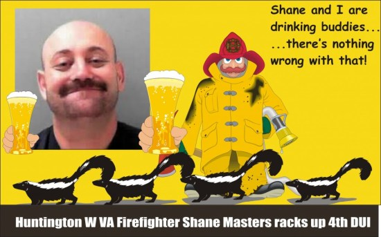 Shane Masters 4th DUI Huntington Firefighter WVA