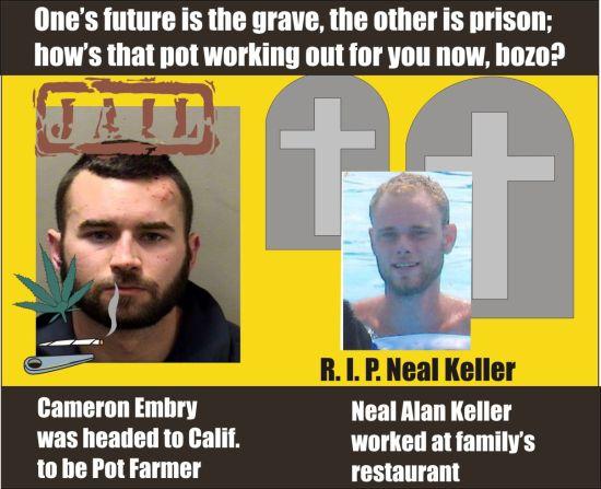 Cameron Embry DUI killer Neal Alan Keller dead Bloomington Ill 031615