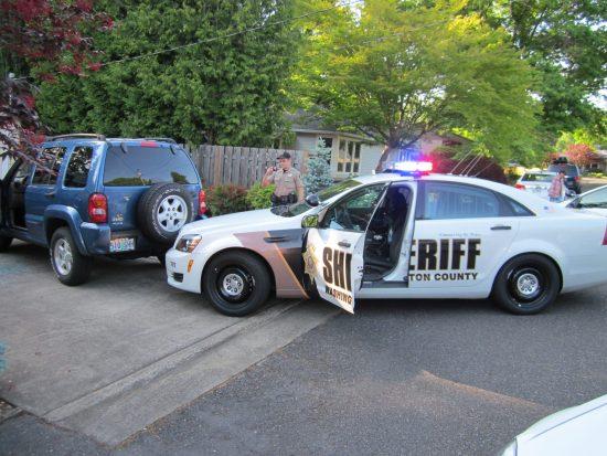 DUI driver hit Washington Co Ore Sheriff patrol car 051715
