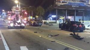 Fatal crash scene of DUI DJ in Miami found guilty 100215. photo Miami Fire Department