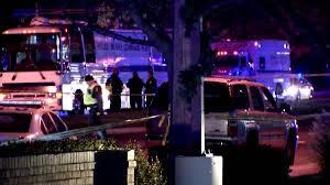 DUI crash scene Rockville Md 120415 Officer Leotta critical. NBC 4 Washington photo