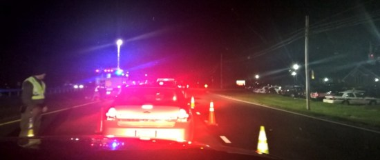 Officer Noah Leotta Memorial Sobriety Checkpoint on 121615 on Rt. 228 Waldorf Md.