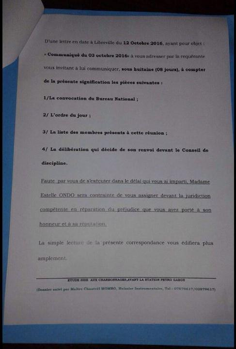 lettre-de-mme-estelle-ondo-ministre-de-leconomie-forestiere-de-la-peche-et-de-lenvironnement-au-parti-un-002