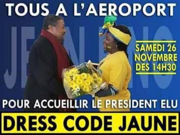 Vague de jaune samedi à Libreville pour accueillir Jean Ping