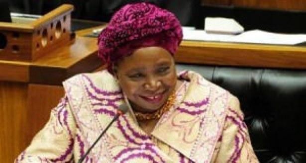 Nkosazana Dlamini-Zuma, la présidente sortante de la commission de l'Union africaine