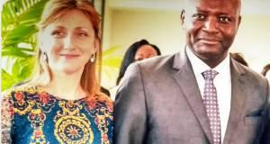 Bruno et Virginie Moubamba, Vice-Ministre en charge de l'Urbanisme, de l'Habitat social et du Logement