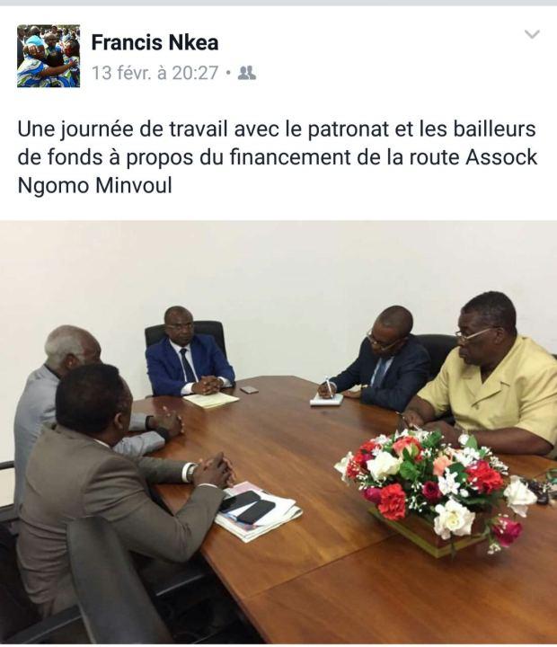 Francis-NKEA-lors-d'une-journée-de-travail-avec-le-patronat-et-les-bailleurs-fonds-à-propos-du-financement-de-la-route-dAssock-Ngomo-à-Minvoul