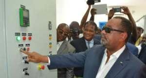 Guy-Bertrand-Mapangou-inauguration-le-13-mai-dernier-de-la-nouvelle-station-de-pompage-d'eau-d'Atsié-Lambaréné-Moyen-Ogooué