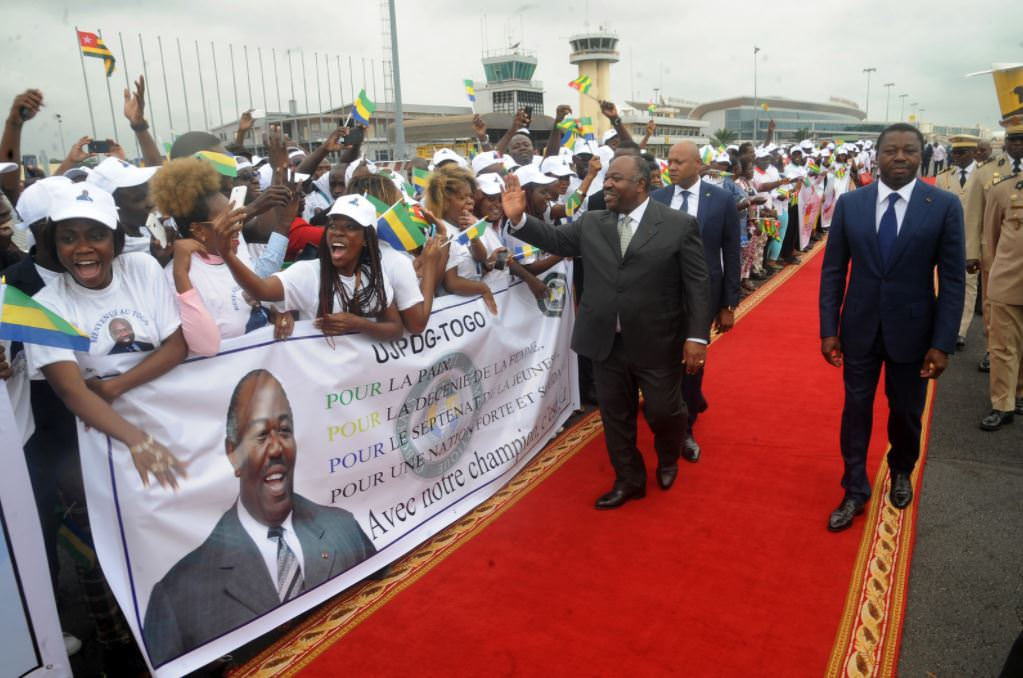 Ali Bongo Ondimba - Accueil fraternel des compatriotes gabonais du Togo