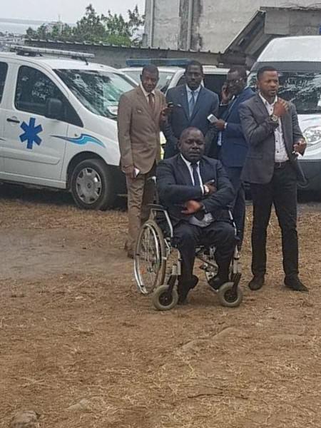 23 aout 2017- Cérémonie d'OUVERTURE DU 1er CENTRE MEDICO PSYCHOLOGIQUE DU SAMU SOCIAL GABONAIS- du Ministre délégué auprès du ministre d'Etat, ministre de la Famille, chargé de la Protection sociale et de la Solidarité nationale, M. Monsieur Jonathan NDOUTOUME NGOME et le Dr Wenceslas YABA – DGA du CHU de LIBREVILLE – Coordonnateur Général du Samu Social Gabonais