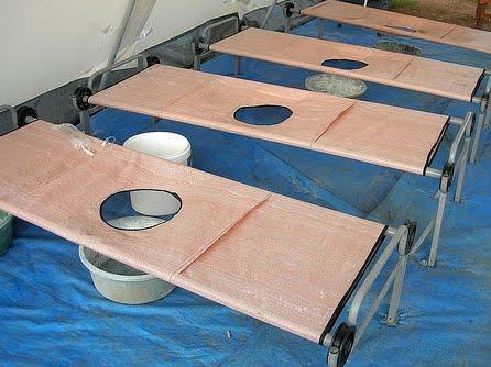 Des lits pour les malades du choléra. Ph. UN.org