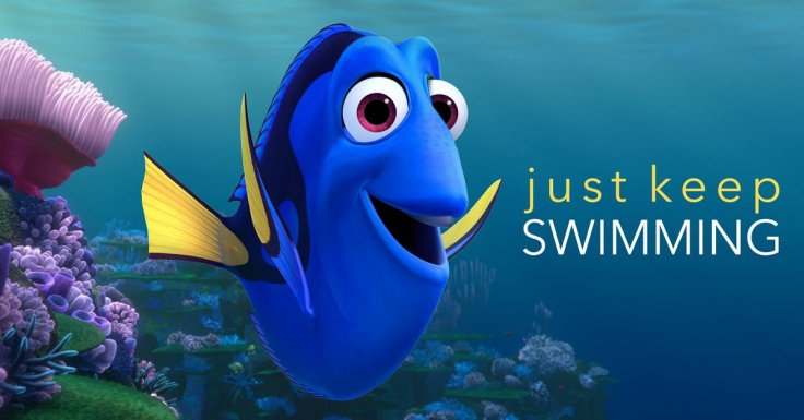 Image result for dory just keep swimming