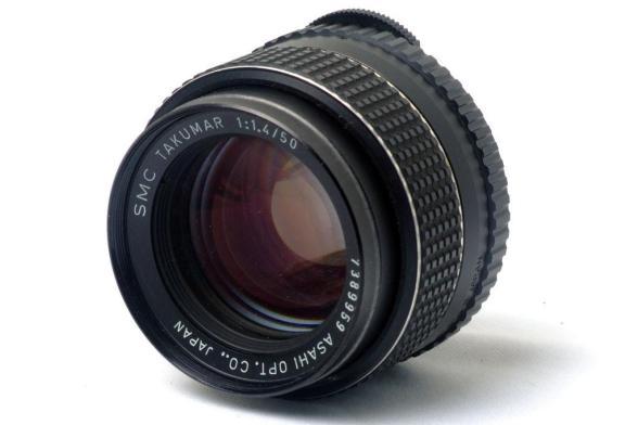 Pentax Spotmatic - Lente 50mm f/1.4 SMC Takumar - Frente