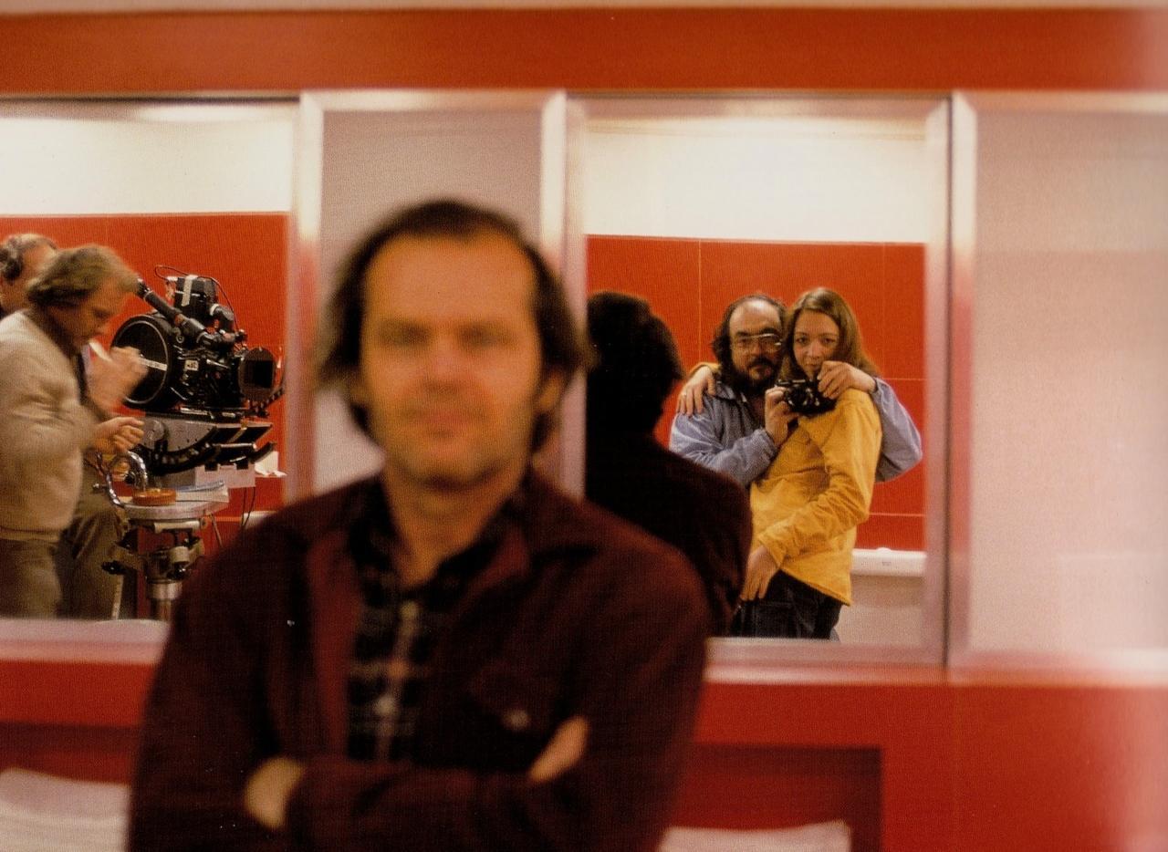 Autorretrato de Stanley Kubrick no set de 'O Iluminado'