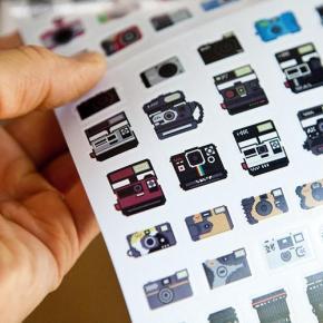 Adesivos de ícones de câmeras, ou câmeras icônicas