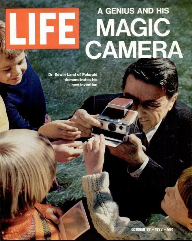 Edwin Land e sua revolucionária Polaroid na Life Magazine em 1972