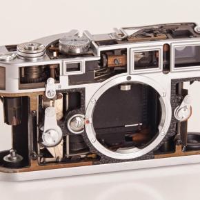 Leica M3 recortada e sua beleza interior