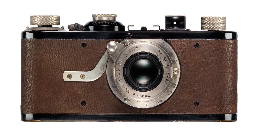 Leica I, com lente Leitz Anastigmat 50 mm f/3.5 fixa