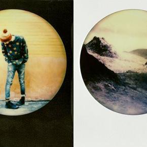 Round Frame Color Film, uma foto instantânea redonda