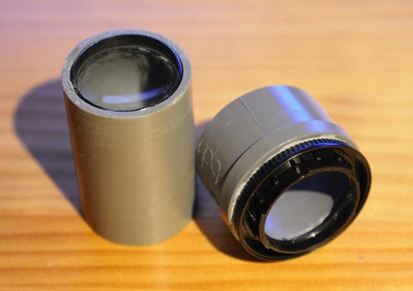 Lente fotográfica construída com cano de PVC e lupa - DXFoto 02