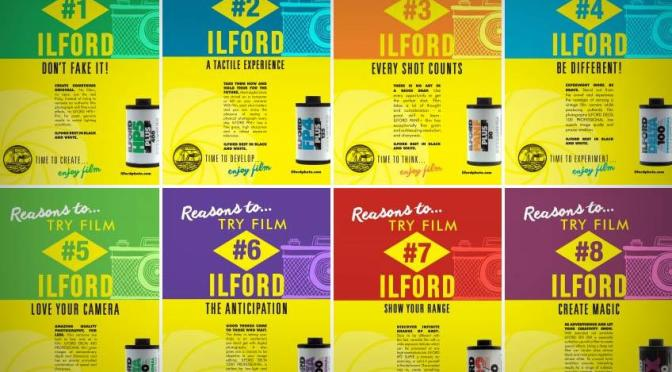 Pôsteres Reasons to try film da Ilford Photo