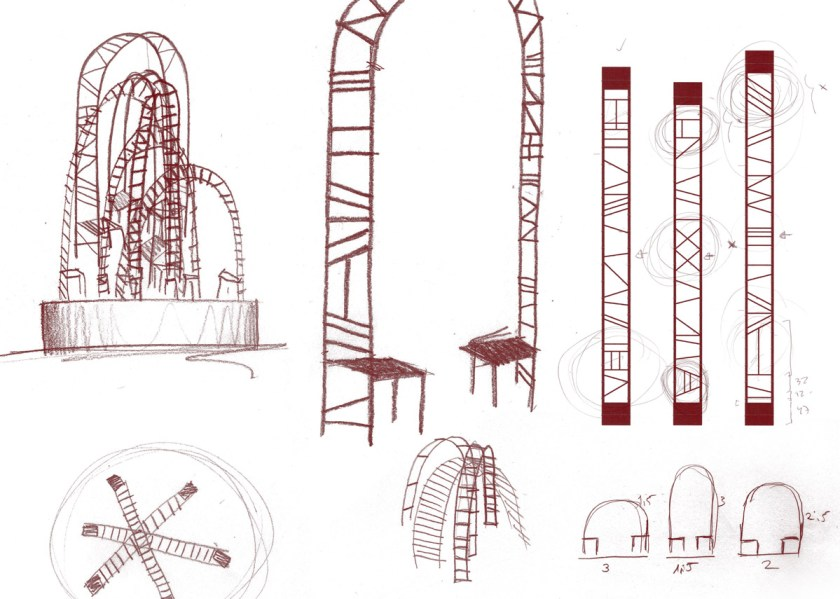 """Bocetos """"Bridges"""" ©Mermelada Estudio"""