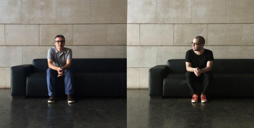 Alvaro de los Ángeles y Didac Ballester en la galería del IVAM.